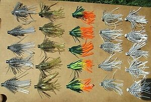 25ct ASSORTED 2.5 inch SILICONE Hula SKIRTS Pro Style Push On Bass Spinnerbaits