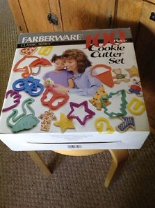 Pre Owned Farberware Classic Series 99 Piece Cookie Cutter Set.  Missing The 8.
