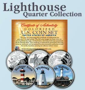 Historic LIGHTHOUSE State Quarter 3 Coin Set #6 $9.95
