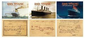 2012 RMS TITANIC SHIP * 100th Anniversary * 3 Jumbo Card Set 3.5quot;x5.5quot; NEW
