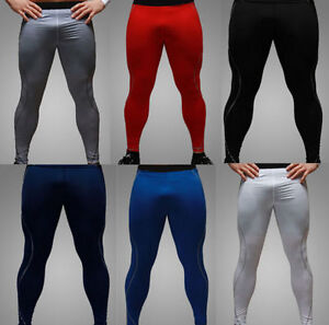 Chic Long Leggings Thermal Compression Under Mens Tight Base Layer Pants M XXL $0.99