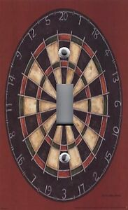Light Switch Plate & Outlet Covers MAN CAVE GAME ROOM ~ DART BOARD IMAGE
