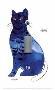 Light Switch Plate amp; Outlet Covers ANDY WARHOL BLUE CAT SAM