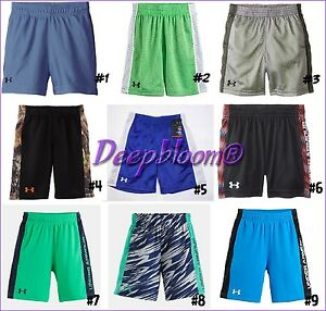UNDER ARMOUR ATHLETIC SHORTS BOYS 2T 3T 4T MESH NEW