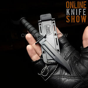 6quot; MILITARY TACTICAL COMBAT NECK KNIFE w SHEATH Survival HUNTING Fixed Blade