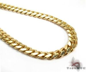 Miami Cuban Chain Link 18k Yellow Gold 200.07 Grams 38 Inches 8mm