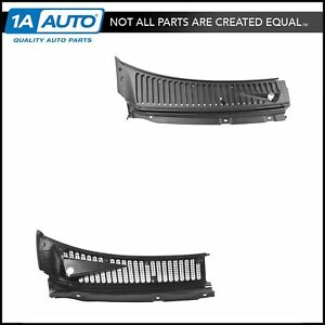 OEM Windshield Wiper Cowl Grille w Seals & Washer Nozzles RH LH Pair for Pickup