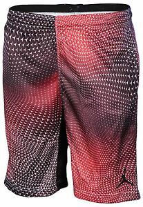 Jordan Big Boys' (8-20) Dri-Fit Nike Flight Printed Shorts-Gym Red