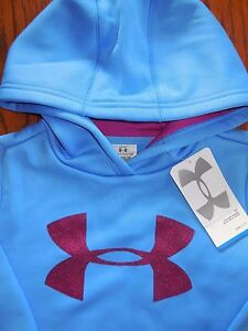 NWT Under Armour Cold Gear Big Logo Sweatshirt Hoodie Girls Youth Small Awesome