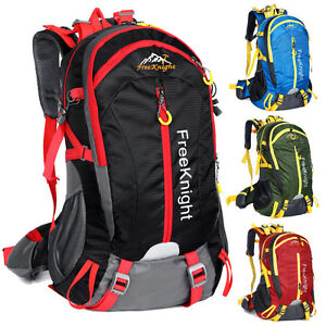 40L Outdoor Backpack Hiking Bag Camping Travel Waterproof Day Pack Climbing New
