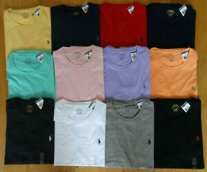 NWT Polo Ralph Lauren Brand New With Tag STANDARD FIT CREWNECK Logo T Tee Shirt