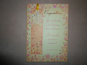Congratulations Greeting Card With Bookmark & Decorative Envelope~7