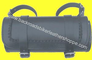 LEATHER BRAIDED MOTORCYCLE TOOL BAG LARGE 12X5X5 $47.99