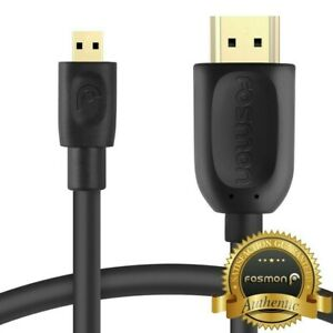 6FT Micro HDMI to HDMI MM Cable Adapter for GoPro HERO 6 5 4 Sony Canon Nikon