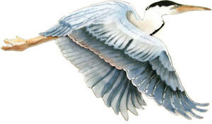 Flying Blue Heron Bird- Metal Wall Art Sculpture by Bovano of Cheshire #W3000