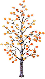 Aspen Tree Enameled Metal Wall Art Sculpture Large- by Bovano of Cheshire W96