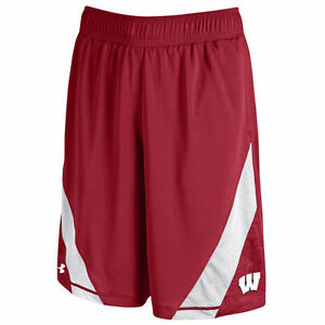 Under Armour Wisconsin Badgers Red Microstripe Performance Shorts