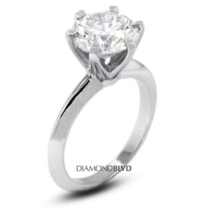 1.04 CT EVS1V.Good Round Earth Mined Diamond 18KW Classic Solitaire Ring 3.8gr