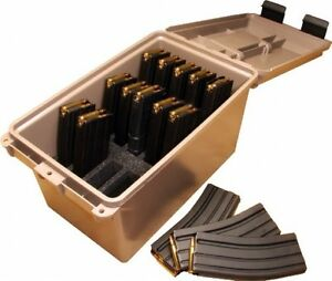 Ammo Can Tactical Mag Magazine Storage Ammunition Box Container Field Safe Case
