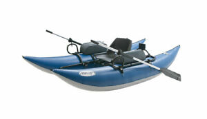 Outcast Sporting Gear Fish Cat 9-IR Inflatable Pontoon Boat Blue