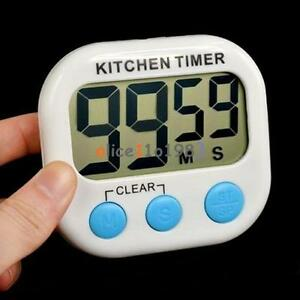 Large LCD Digital Timer Kitchen Cooking Count Down Up Loud Alarm Magnetic