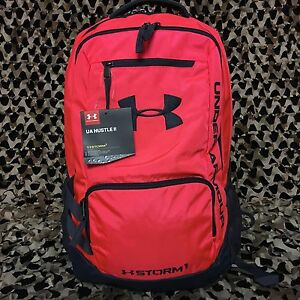 NEW Under Armour Storm Hustle II Backpack - Pink Chroma Stealth Grey (806)