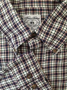 NEW BROOKS BROTHERS LONG SLEEVE SPORTS PLAID SHIRT SIZE XL