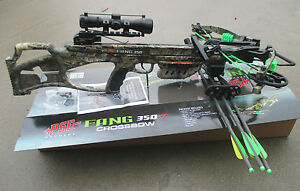 NEW 2018 PSE Fang XT Crossbow complete package Mossy Oak COUNTRY 350 fps
