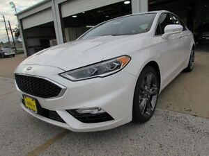 2017 Ford Fusion Sport 2017 Ford Fusion Sport 5 Miles White Platinum Metallic Tri-Coat 4dr Car Twin Tur
