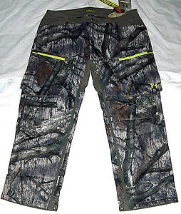 NEW UNDER ARMOUR STORM 2 SZ 2XL UA INFRARED COLDGEAR MOSSY OAK CAMO HUNTING PANT