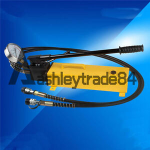 3L Double Acting Hydraulic Hand Pump with Pressure Gauge 10000 PSI