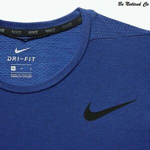 Nike Dry Men's Short-Sleeve Training Top L Blue Casual Running Dri-Fit New