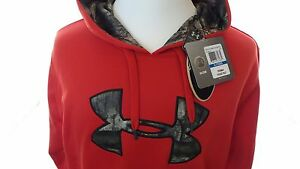 Under Armour Men's Loose Red & Camo Storm 1 Hoodie Size XL Extra Large US