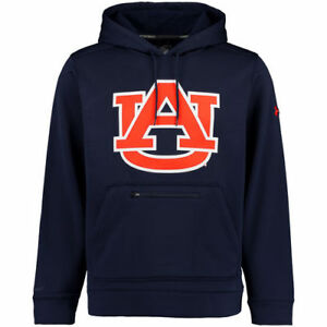 Under Armour Auburn Tigers Navy Sideline Elevate Storm Performance Hoodie