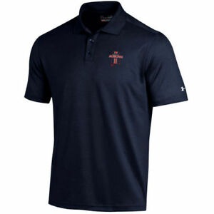 Under Armour Auburn Tigers Navy Solid Performance Polo - College