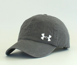 New Women's Under Armour Ball Cap Armour Washed Golf Hat Outdoor Sport Grey