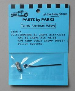 LINDBERG 1961 CHEVY PULLEY SET 1:24 1:25 PART BY PARKS CAR MODEL ACCESSORY 9015 $9.99