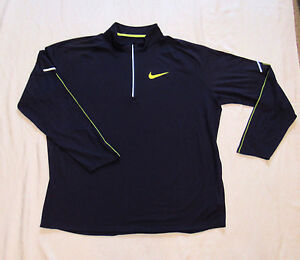 NIKE FIT DRY Half Zip DARK PURPLE Athletic Workout Casual Running shirt 3XL NWOT