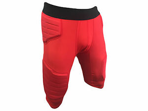 Men's Nike Pro Combat Basketball Compression 5 Pad Shorts Red 629893-657 (XXL)