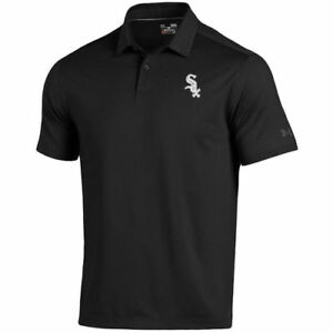 Under Armour Chicago White Sox Black Coolswitch Ice Pick Performance Polo