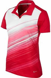 Nike NEW Womens Speed Strip Mesh Polo Dri Fit Golf Shirt 620046 Medium M $70