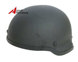 Tactical Military MICH 2002 Glass Fiber Helmet Airsoft Paintball Hunting Black