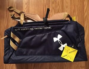 Notre Dame Under Armour Duffel Bag God Country Notre Dame New Tags