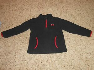 Toddler Boys Under Armour Top Size 3T Blk Fleece Top Casual Hoodie Fits 2T-3T #1