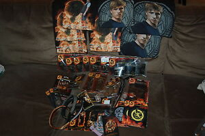 HUGE LOT of HUNGER GAMES NECA Memo bracelets shirts patches openi