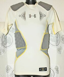UNDER ARMOUR MEN MPZ 5-PAD ARMOUR SR SHIRT S SMALL WHTGRY 34-36 UA COMPRESSION