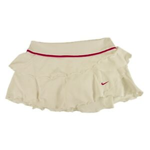 NikeCourt Women's Tennis Skirt Dri-fit with built-in shorts white S 4-6 UK 8-10
