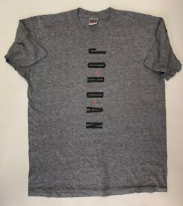 Vintage 90's Men's Nike Air Jordan Evolution T Shirt Size XLT Rare Gray Tag