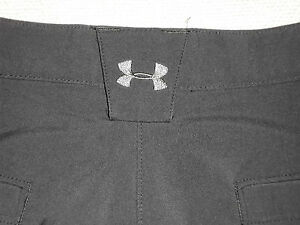 UNDER ARMOUR GOLF SHORTS ~BENT GRASS~ BLACK STRETCH CASUAL COOL MEN'S 34