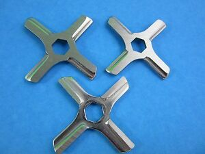 3 HEX Center hole Meat Grinder knife for Moulinex and others